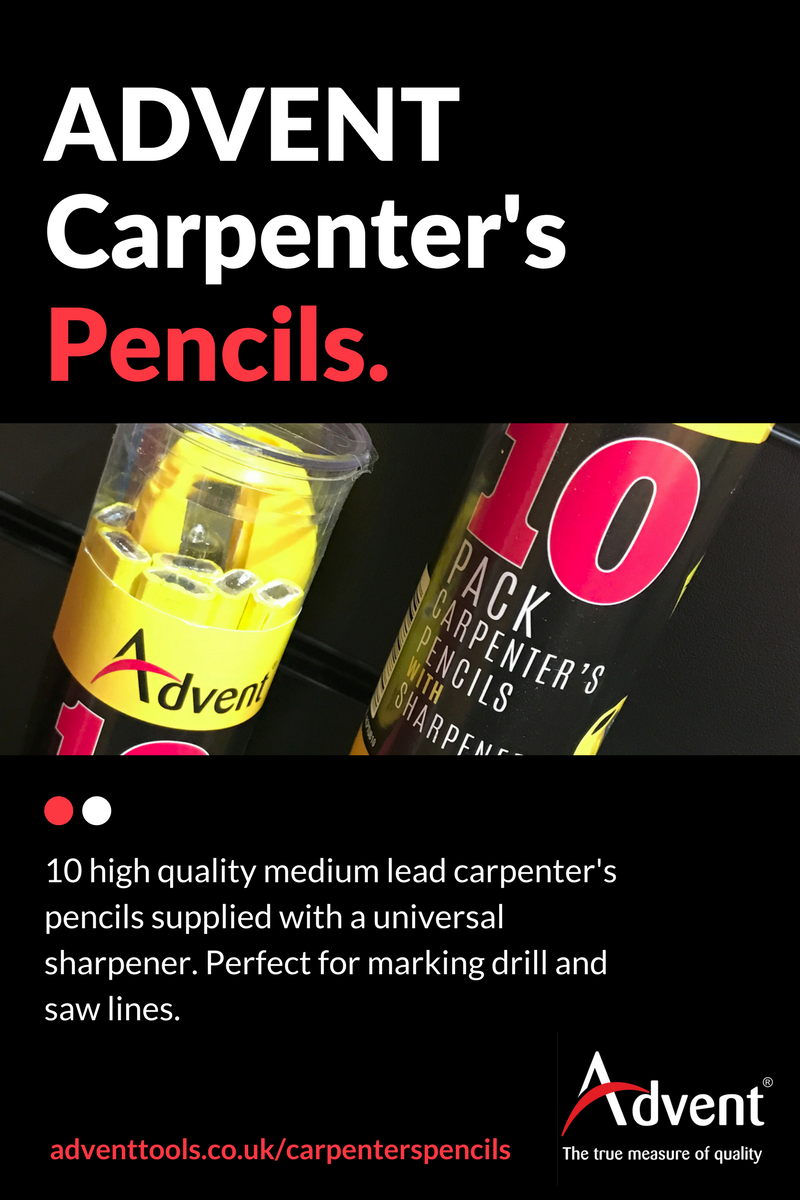 carpenter's pencils tub of ten